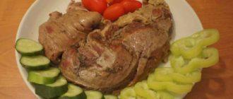 мясо тушенное в мультиварке