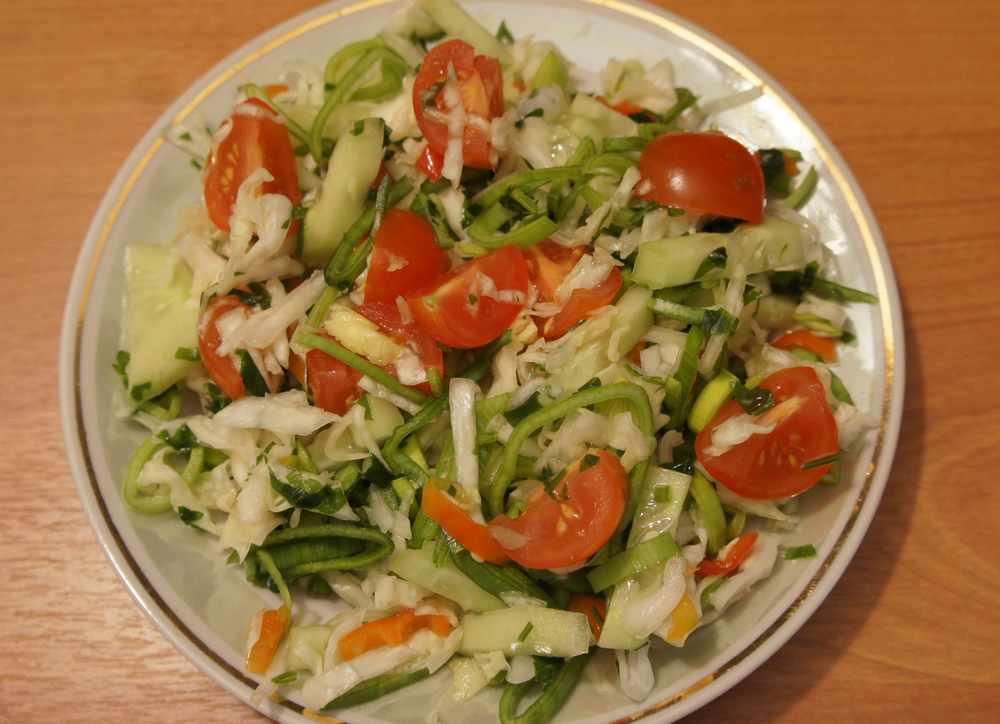 салат овощной вкусный