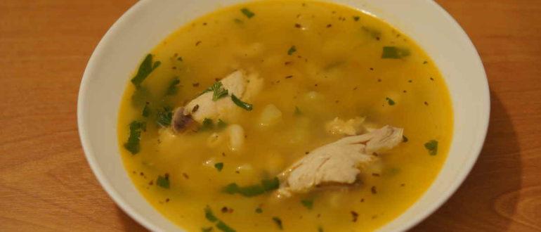 куриный суп с рожками