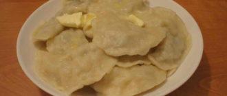 вареники с грибами и картофелем