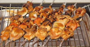 якитори или куриный шашлык