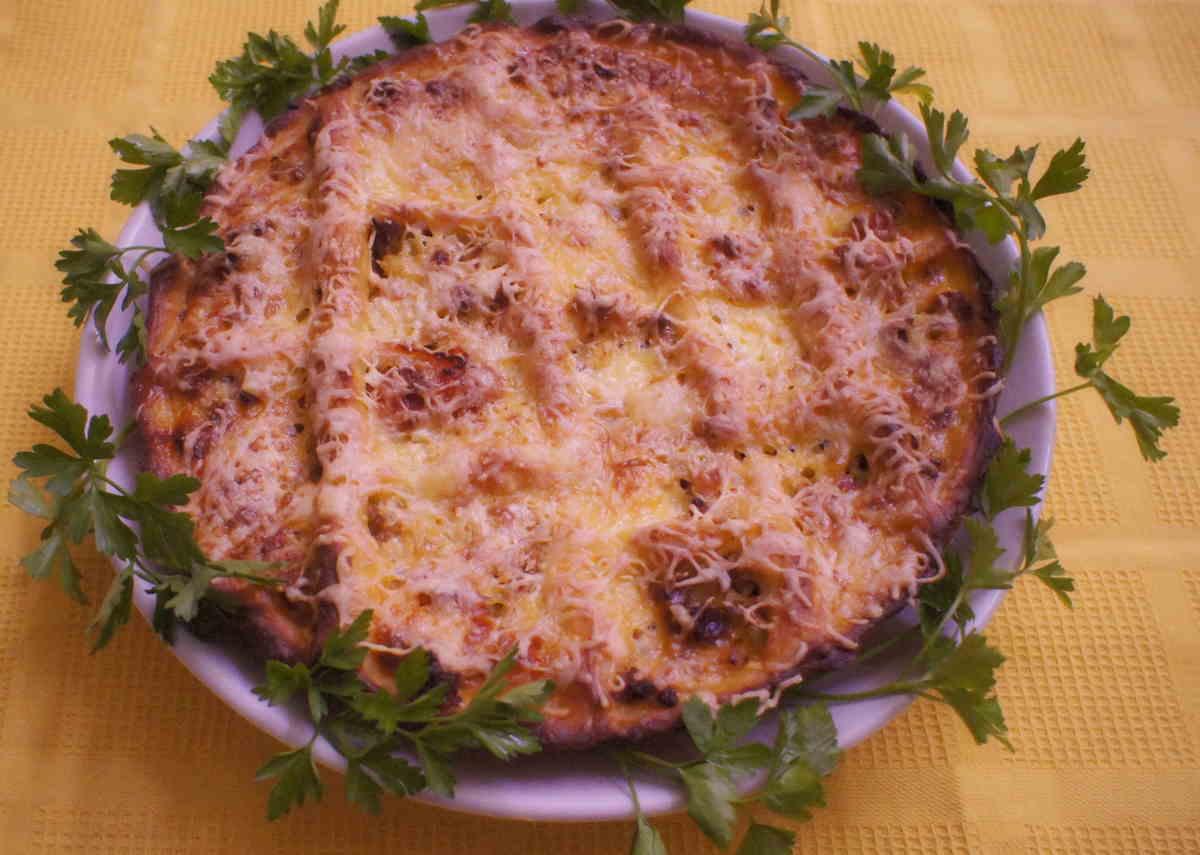 пирог из картофельного теста