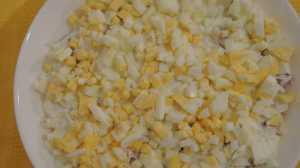слоеный салат с кетой