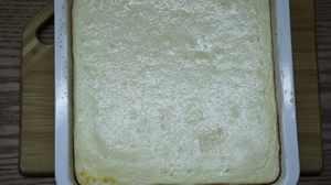 творожная запеканка с бисквитом