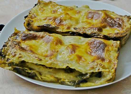 Рецепт лазаньи с грибами и сыром