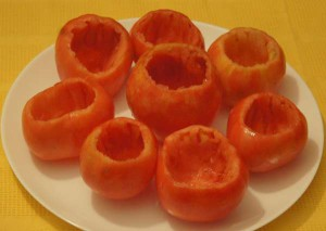 помидоры фаршированные мясом в духовке